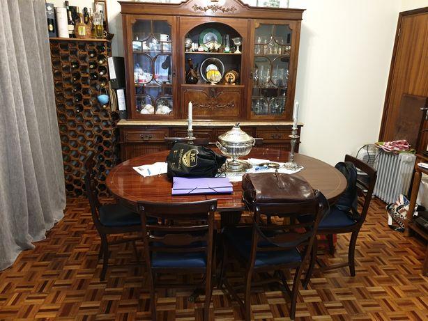 Sala Jantar Completa Conjunto Vintage Muito Antigo