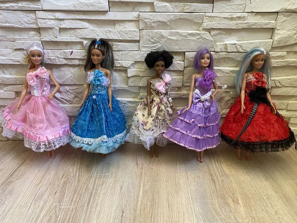 Ubranka sukienka dla lalki barbie