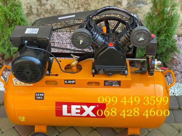 Компрессор LEX LXC 120-2, компресор 120 л, 710 л/мин, 3.8 кВт