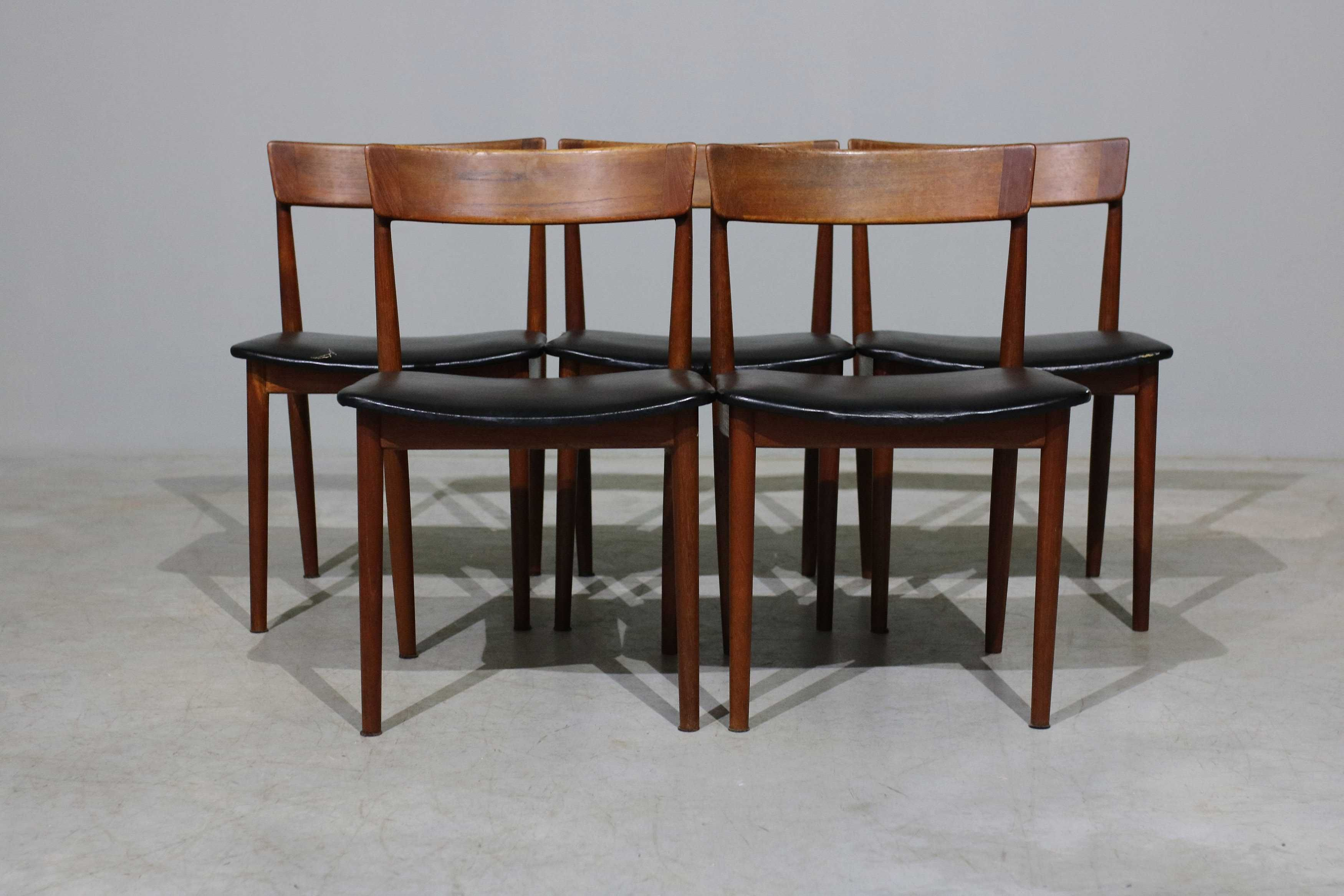 Cadeiras Henry Rosengren Hansen em teca | Móveis vintage