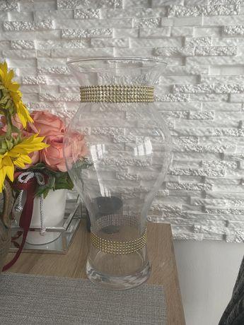 Bardzo duży szklany wazon Wyjątkowy kształt