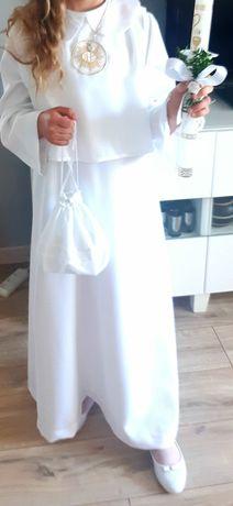 Alba włoska.Sukienka komunijna.Torebka+rękawiczki Gratis
