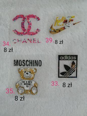 Naprasowanki Chanel Moschino Adidas Nike