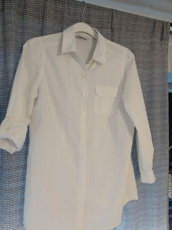 Koszula damska z bawełny, bluzka Marks Spencer