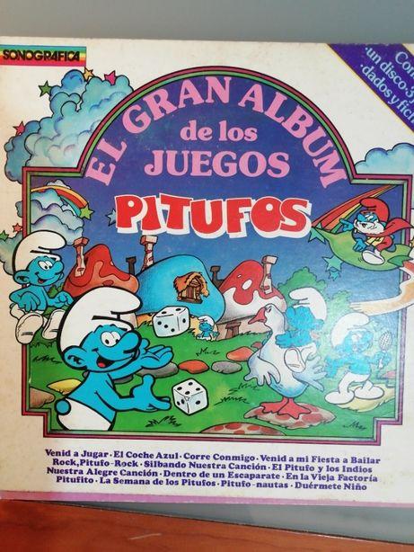 El gran album de los juegos PITUFOS Vinil jogos e Musica infantil