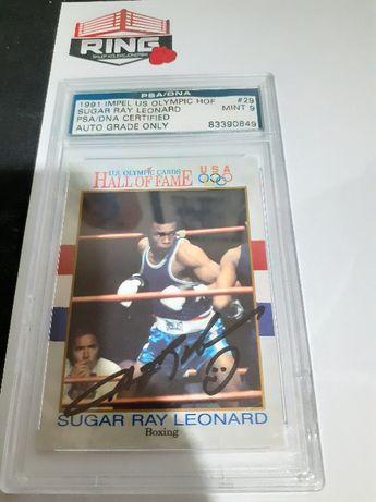 Sugar Ray Leonard Autograf na karcie z 1991 Roku