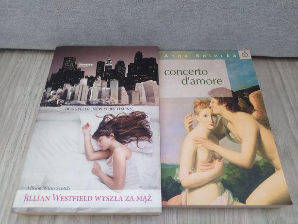 Książki. Jilian Westfield wyszła za mąż. Concerto d'amore