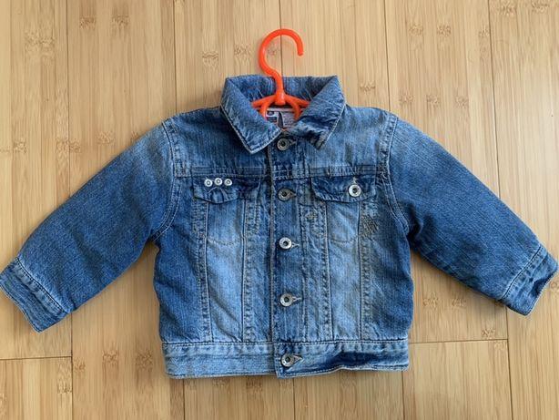 Дитяча джинсова курточка з підкладкою на 9 міс