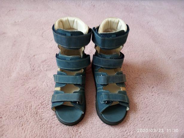 Buty sandały diagnostyczno- krekcyjne MEMO ACTIVE r.33 kolor Navy Blue