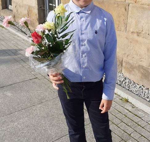 Garnitur+koszula i  krawat r 146