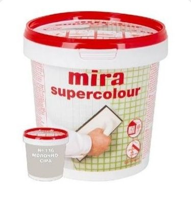 Затирка для швов Mira Supercolour (молочно-серая) 116 1,2 кг