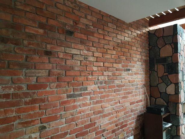 Płytka ceglana Środek cegły czerwonej, stara cegła płytka z rozbiórki