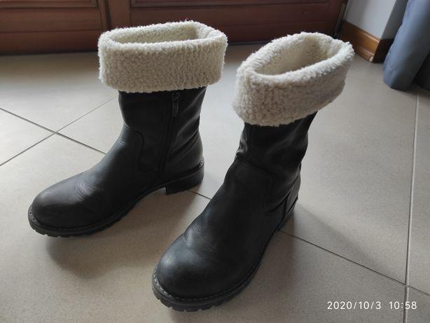Buty botki zimowe damskie roz 37
