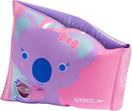 Dziewczęce opaski rękawki kąpielowe Speedo z nadrukiem Koala