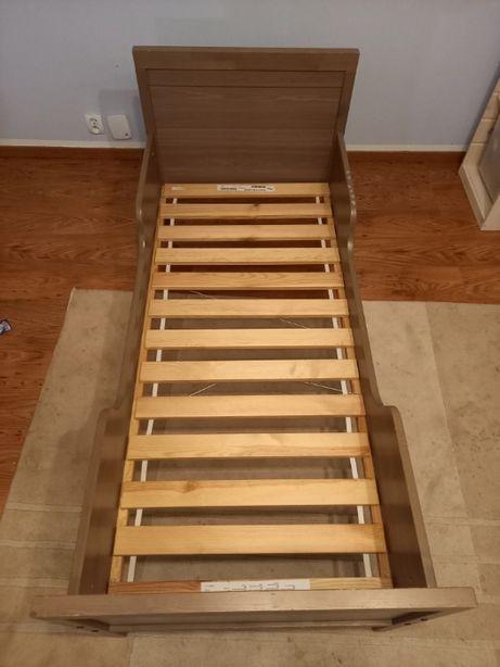 Drewniane łóżko dziecięce IKEA 160 x 70 z materacem