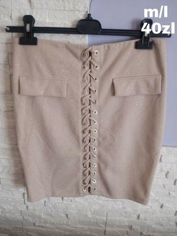 Spodniczka sznurowana bezowa