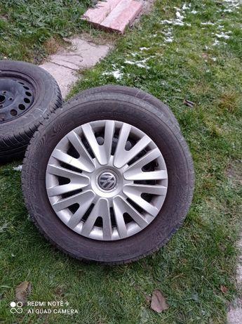 Koła Opony Felgi Volkswagen 15 cali 5x112 opony po jednym sezonie Toyo