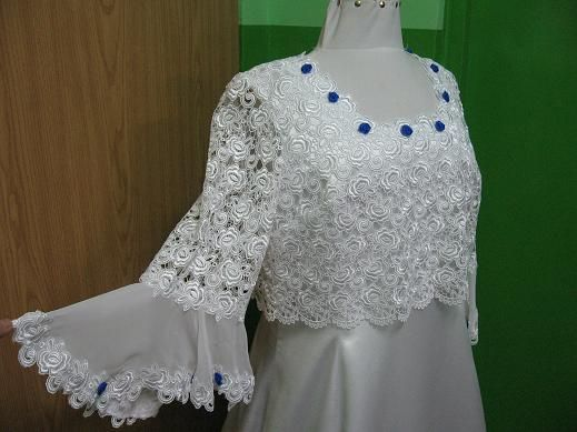 Suknia Ślubna biała z gipiurą r.44/46