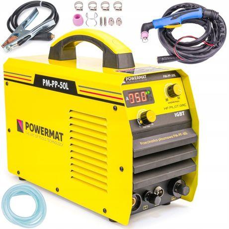 PRZECINARKA PLAZMOWA Plazma 50A 230V 15mm CUT IGBT /kable/ Powermat