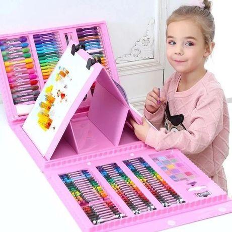 Детский набор для рисования,208 предметов,2цвета