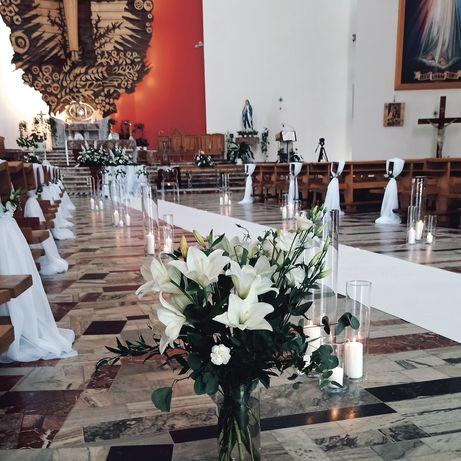 Dekoracja kościoła/ dekoracje ślubne