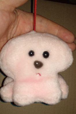 мягкая игрушка розовый мех собака на веревочке милая песик пудель