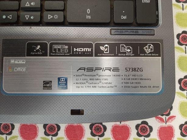 Acer aspire 5738zg
