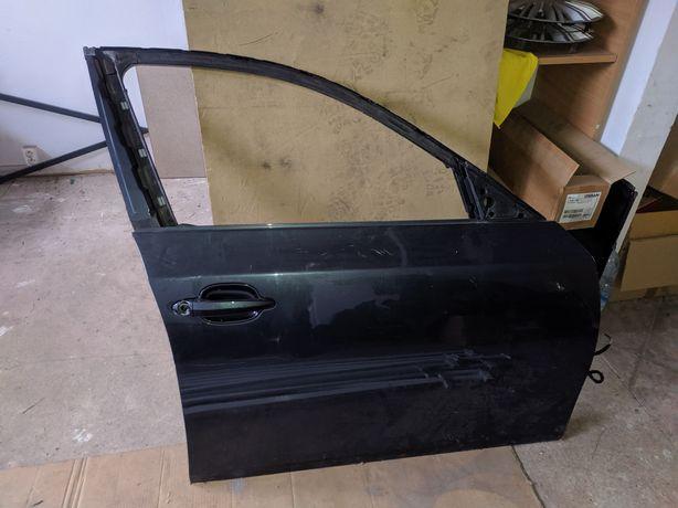 Drzwi przednie prawe, pasażera BMW 5 E60 czarne, przód, schwarz