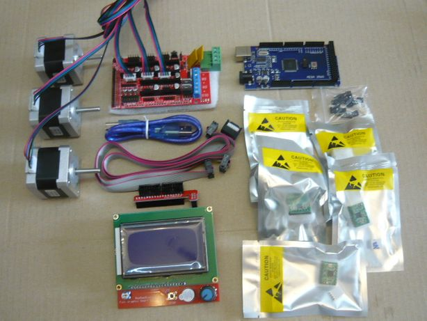 Комплект электроники для ЧПУ станка 3D + шаговые двигатели nema 17