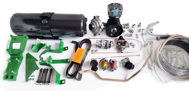 Pneumatyczny układ hamulcowy 2+1 OBWODOWY z kompresor do John Deere