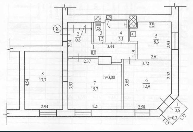Нужна 3 комнатная сталинка в районе Рабочей с ремонтом?