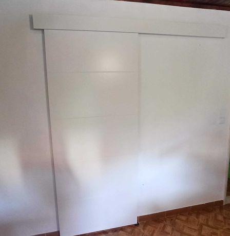 Porta de Correr 82,5x203cm + Guia de alumínio