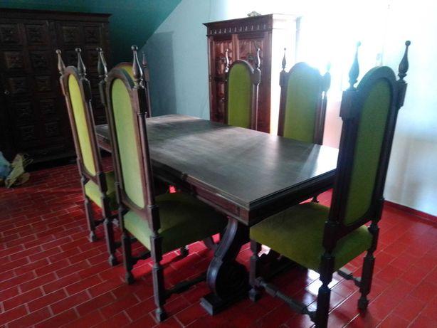 mesa de sala antiga, mesa com 8 cadeiras