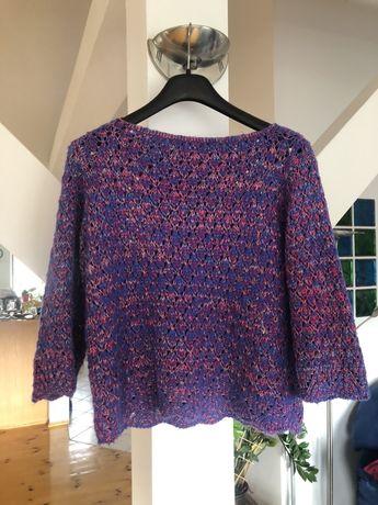 Sweter ażurowy oversize