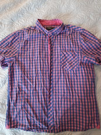 Koszula w kratę, Reserved, XXL, krótki rękaw