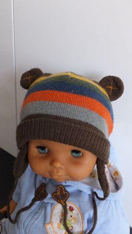 Демисезонная шапка на х/б подкладке cool club размер 86 - 92 на 1 - 2