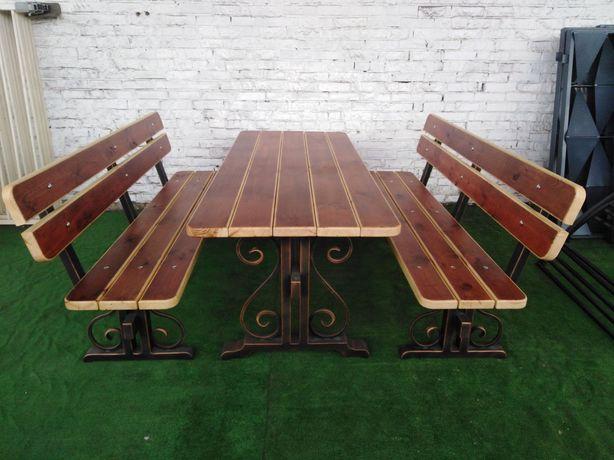 ПОД ЗАКАЗ. Стол и скамейки для беседки или террасы (комплект)