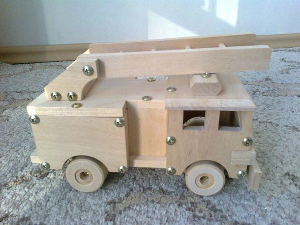 wóz strażacki drewniany jumi