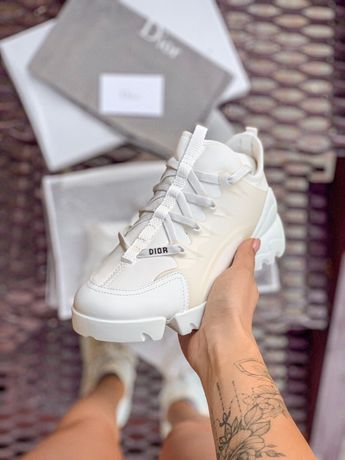 Damskie buty Dior D-Connect White