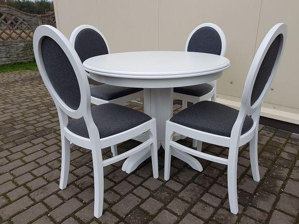 Krzesło krzesła tapicerowane białe modne eleganckie producent nowe