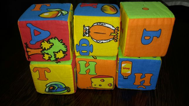 Мягкие кубики с украинским алфавитом
