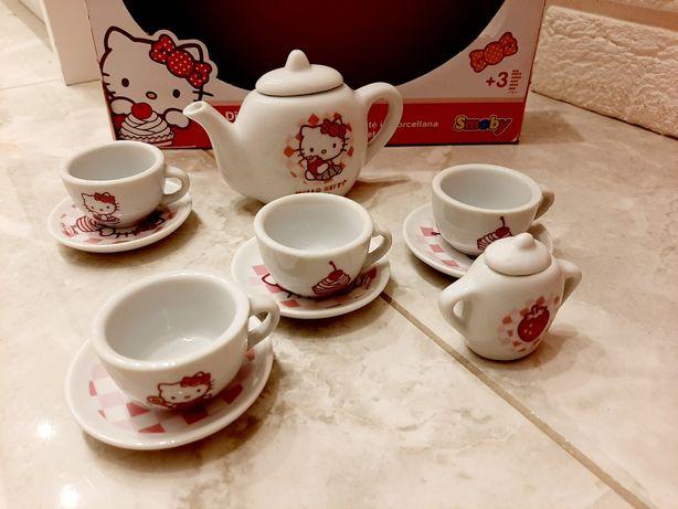 Serwis kawowy szklany Hello Kitty szklany