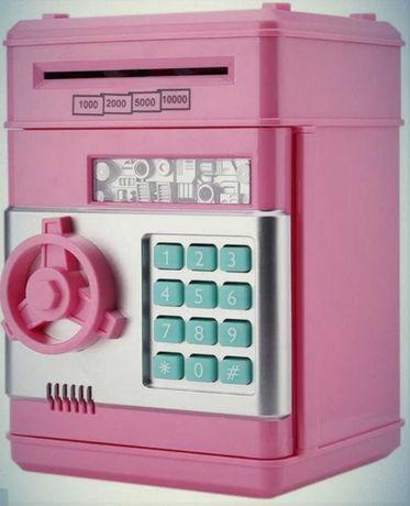 Копилка игрушка сейф с цифровым кодовым замком приёмник купюр