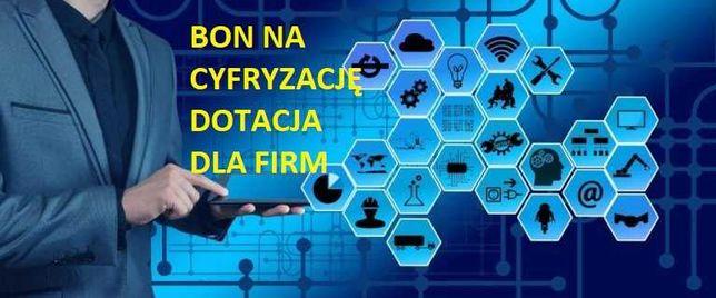 Bon na cyfryzację Dotacja na cyfryzację Pisanie wniosków PARP