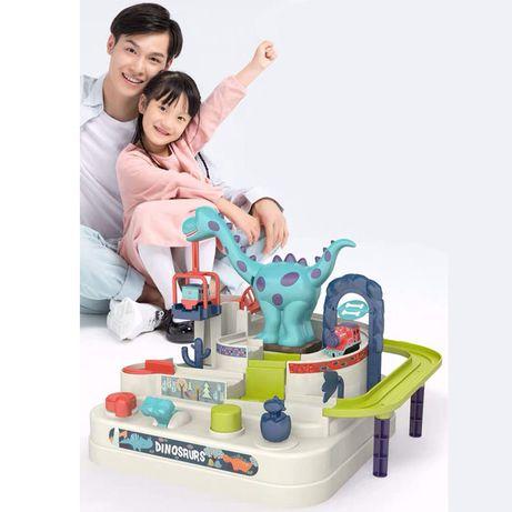 Развивающая игрушка Трек с паровозиками Дино