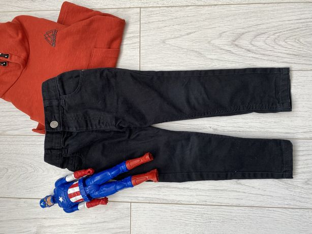 Черные джинсы h&m на 3-4 года