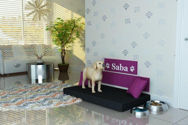 """Legowisko dla psa,psie legowisko-producent-""""SABA"""" IMIĘ PSA- tkanina 06"""