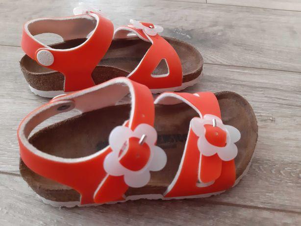 Sandały Birkenstock roz. 25 pomarańczowe