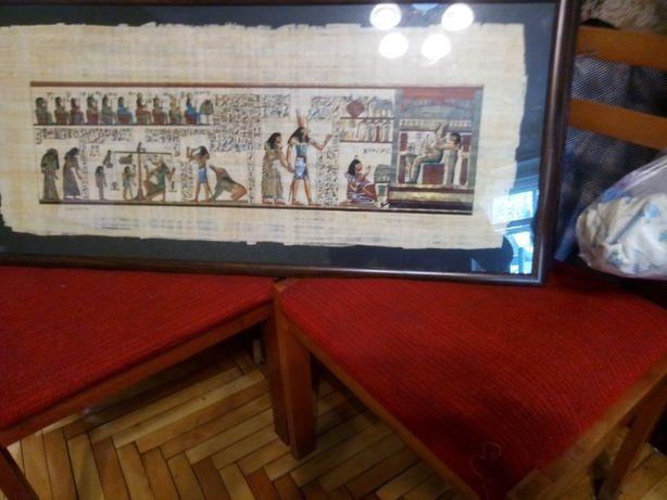 3 картины на египетском папирусе
