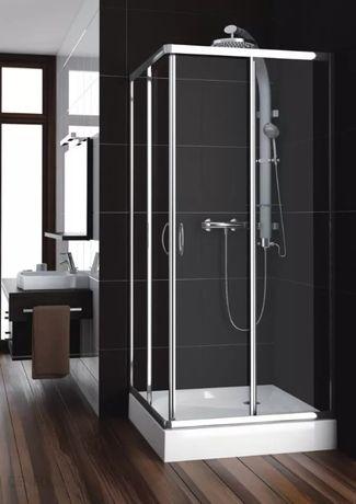 kabina prysznicowa kwadratowa Santo 90x90 + brodzik 90x90x9 akrylowy